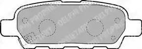 Delphi LP1807 - Комплект тормозных колодок, дисковый тормоз autodnr.net