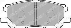 Delphi LP1823 - Тормозные колодки, дисковые car-mod.com