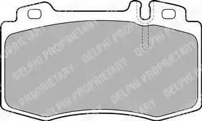 Delphi LP1828 - Тормозные колодки, дисковые car-mod.com