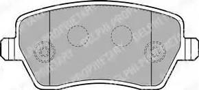 Delphi LP1865 - Комплект тормозных колодок, дисковый тормоз autodnr.net