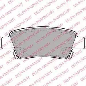 Delphi LP2047 - Тормозные колодки, дисковые car-mod.com
