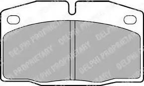 Delphi LP415 - Тормозные колодки, дисковые car-mod.com