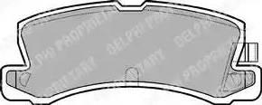 Delphi LP611 - Комплект тормозных колодок, дисковый тормоз autodnr.net