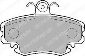 Delphi LP885 - Комплект тормозных колодок, дисковый тормоз autodnr.net