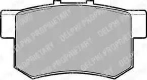 Delphi LP948 - Тормозные колодки, дисковые car-mod.com
