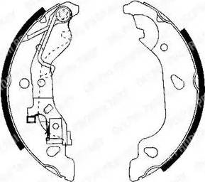 Delphi LS1908 - Комплект тормозных колодок, стояночная тормозная система autodnr.net
