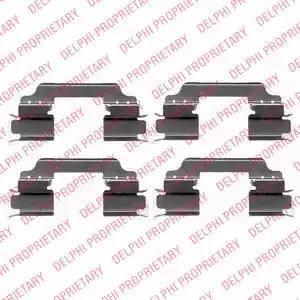 Delphi LX0425 - Комплектующие, колодки дискового тормоза avtokuzovplus.com.ua