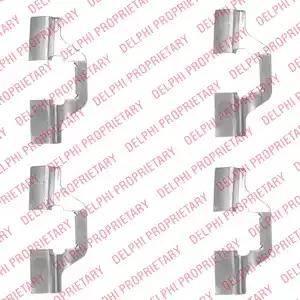Delphi LX0492 - Комплектующие, колодки дискового тормоза avtokuzovplus.com.ua