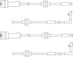 Delphi LZ0146 - Сигнализатор, износ тормозных колодок autodnr.net