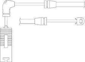 Delphi LZ0156 - Сигнализатор, износ тормозных колодок avtokuzovplus.com.ua