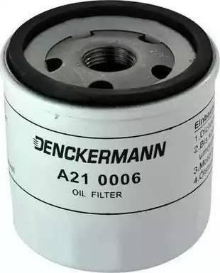 Denckermann A210006 - Масляний фільтр autocars.com.ua