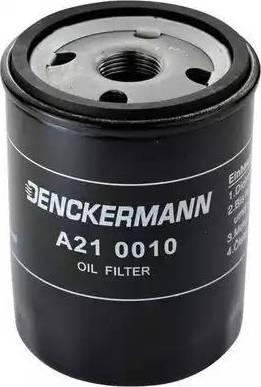 Denckermann A210010 - Масляний фільтр autocars.com.ua