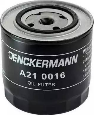 Denckermann A210016 - Масляний фільтр autocars.com.ua