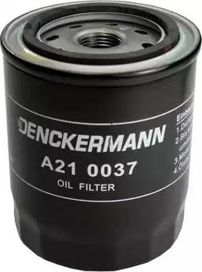 Denckermann A210037 - Масляний фільтр autocars.com.ua