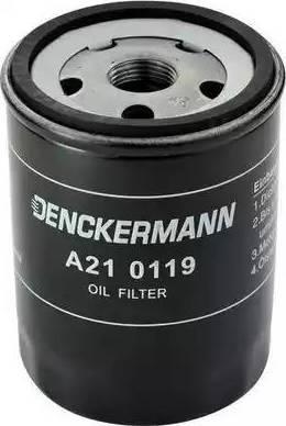 Denckermann A210119 - Масляний фільтр autocars.com.ua