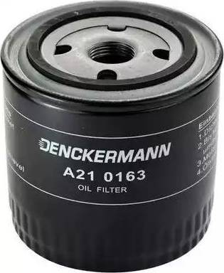 Denckermann A210163 - Масляний фільтр autocars.com.ua