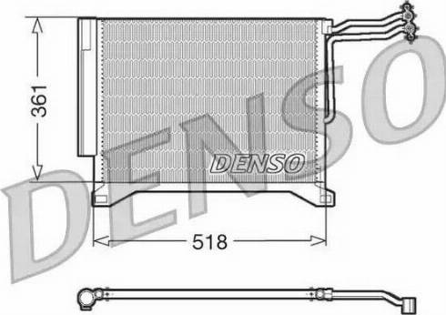 Denso DCN05100 - Конденсатор, кондиционер car-mod.com
