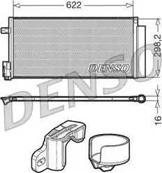 Denso DCN13110 - Конденсатор, кондиционер car-mod.com
