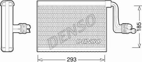 Denso DEV05002 - Испаритель, кондиционер car-mod.com