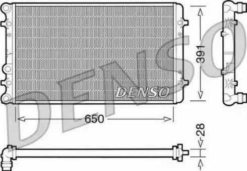Denso DRM02007 - Радиатор, охлаждение двигателя car-mod.com