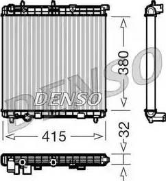 Denso DRM07011 - Радиатор, охлаждение двигателя car-mod.com