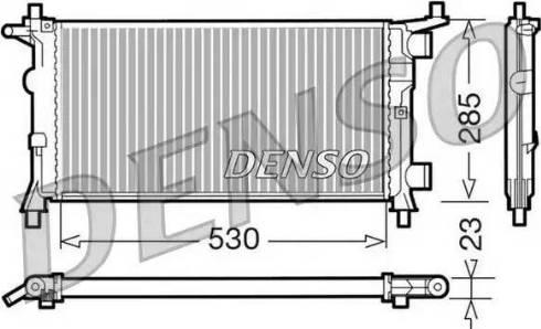 Denso DRM20041 - Радиатор, охлаждение двигателя car-mod.com