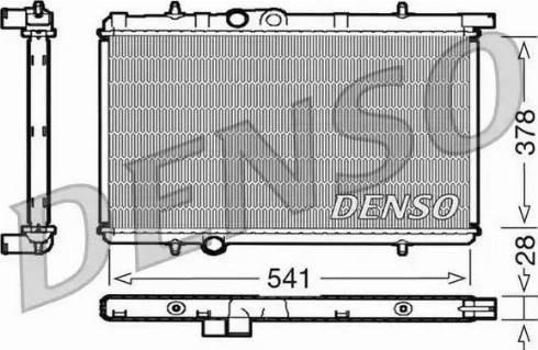 Denso DRM21021 - Радиатор, охлаждение двигателя car-mod.com