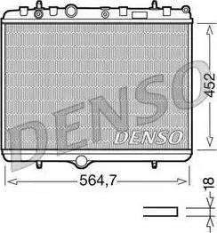 Denso DRM21055 - Радиатор, охлаждение двигателя car-mod.com