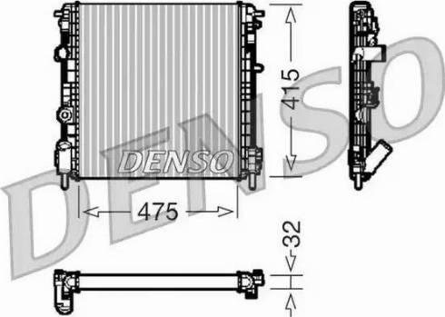 Denso DRM23014 - Радиатор, охлаждение двигателя car-mod.com