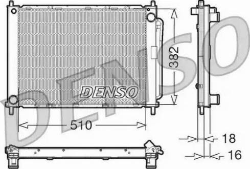 Denso DRM23100 - Модуль охлаждения avtokuzovplus.com.ua