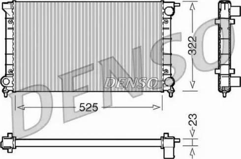 Denso DRM32024 - Радиатор, охлаждение двигателя car-mod.com