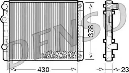 Denso DRM32030 - Радиатор, охлаждение двигателя car-mod.com