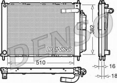 Denso DRM46101 - Модуль охлаждения car-mod.com