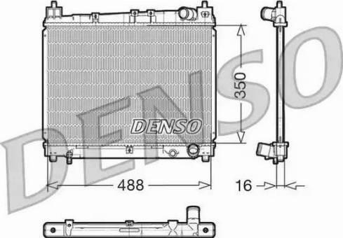 Denso DRM50006 - Радиатор, охлаждение двигателя car-mod.com