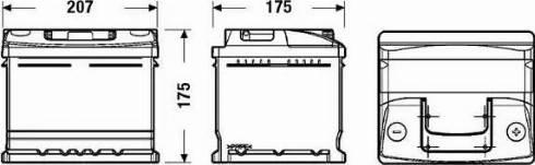 DETA DC412 - Стартерная аккумуляторная батарея, АКБ car-mod.com