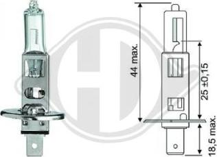 Diederichs LID10012 - Лампа накаливания, фара с авт. системой стабилизации autodnr.net
