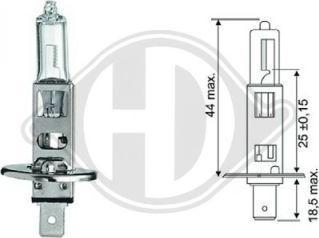 Diederichs LID10013 - Лампа накаливания, фара с авт. системой стабилизации autodnr.net