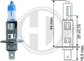 Diederichs LID10062 - Лампа накаливания, фара с авт. системой стабилизации autodnr.net