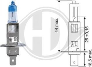 Diederichs LID10065 - Лампа накаливания, фара с авт. системой стабилизации autodnr.net