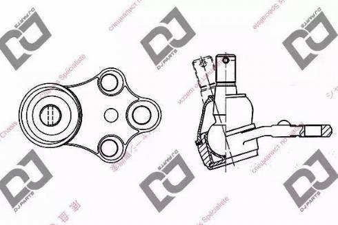 DJ Parts DB1028 - Несущий / направляющий шарнир autodnr.net