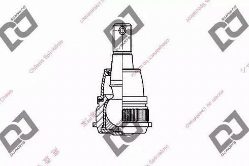 DJ Parts DB1029 - Шаровая опора, несущий / направляющий шарнир car-mod.com