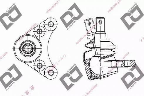 DJ Parts DB1061 - Шаровая опора, несущий / направляющий шарнир car-mod.com