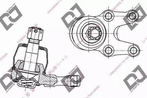 DJ Parts DB1198 - Шаровая опора, несущий / направляющий шарнир car-mod.com