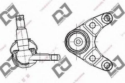 DJ Parts DB1320 - Шаровая опора, несущий / направляющий шарнир car-mod.com