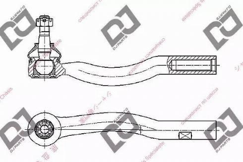 DJ Parts DE1293 - Наконечник поперечной рулевой тяги autodnr.net