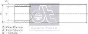 DT Spare Parts 986110 - Трубопровод autodnr.net