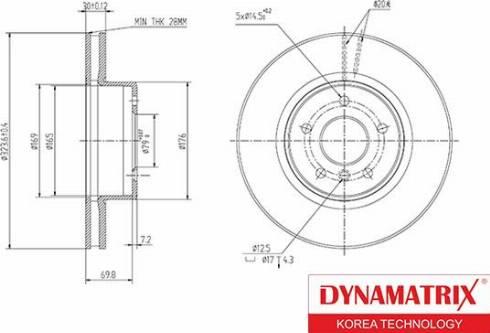 Dynamatrix DBD1242 - Тормозной диск autodnr.net