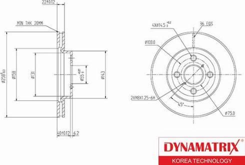 Dynamatrix DBD1587 - Тормозной диск autodnr.net