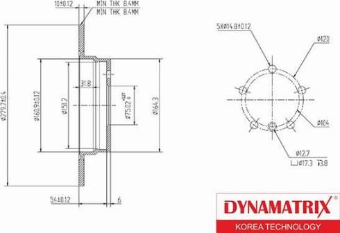 Dynamatrix DBD249 - Тормозной диск autodnr.net