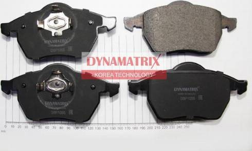 Dynamatrix DBP1055 - Комплект тормозных колодок, дисковый тормоз autodnr.net